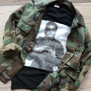 Elvis Military Graphic Tee Jerzees Knit